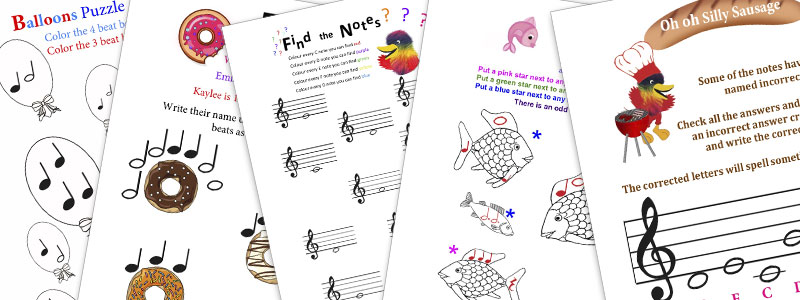 Woody's Piano Circle Fun Theory Puzzles Books Sample Pages
